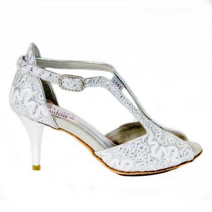Biele svadobné tanečné topánky Marlene